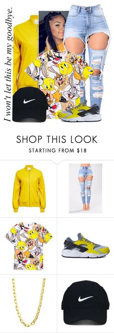"""""""Pray For Us, A Tornado Is Headed This Way"""" by sammy-pinckney ❤ liked on Polyvore featuring ADAM, H&M, NIKE, Luv Aj and Nike Golf"""