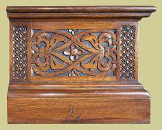 Oak TV stand with hand carved Elizabethan style strapwork carved end panels Antique Furniture, Cool Furniture, Painted Furniture, Furniture Design, Tv Cupboard, Tv Stand Cabinet, Tv Cabinets, Hand Carved, Tvs
