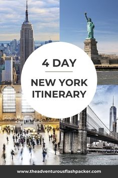 New York Itinerary 4 Days Alaska Travel, Canada Travel, Travel Usa, New York Travel Guide, New York City Travel, Best Places To Travel, Cool Places To Visit, North America, Central America