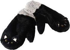 Very Warm Cat Face design Mitten Style Glove — Black $17.50 http://thingsfromjapan.net/warm-cat-face-design-mitten-style-glove-black/ #cat glove #cute cat item #kawaii glove #cute Japanese stuff #kawaii cat stuff