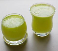 serves two    8-10 stalks celery  3 cups broccoli  1 apple  1 lemon, peeled