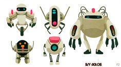 Police Alien Robots or PAR by hision.deviantart.com on @DeviantArt