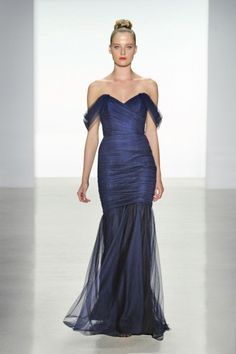 Cheap Charming A-line Off-the-shoulder Ruching Floor-length Tulle&Stretch Satin Evening Dresses From Highly Praised Online Shop