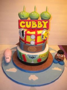 Woody and Buzz Light Year Cake - Toy story cake