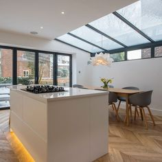 House Extension Plans, Extension Ideas, Express Bi Folding Doors, Lean To Roof, Glass Extension, Roofing Systems, Grand Designs, Glass Roof, Interiors