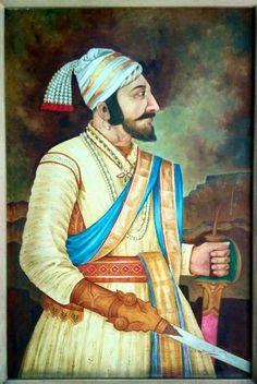 Shivaji raje Warriors Wallpaper, Shiva Wallpaper, Shivaji Maharaj Painting, Potrait Painting, Shivaji Maharaj Hd Wallpaper, Rajasthani Art, Great King, Actors Images, Indian Paintings