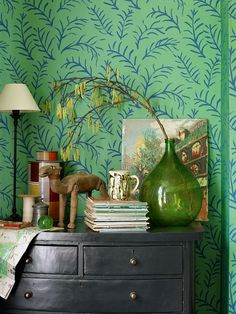 Buy Sanderson Matisse Leaf Wallpaper, Emerald, 211083 online at JohnLewis.com - John Lewis