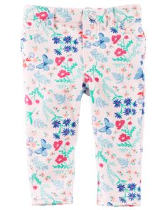 Baby Girl Printed French Terry Pants from OshKosh B'gosh. Shop clothing & accessories from a trusted name in kids, toddlers, and baby clothes.