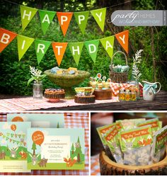Woodland Birthday Party Kit