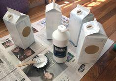 Milk Carton Bird Houses kids make this simple bird house craft from milk cartons Recycled Art Projects, Diy Projects For Kids, Crafts For Kids, Milk Carton Crafts, Milk Cartons, Bird House Plans, Bird House Kits, Bird Feeders For Kids To Make, Modern Birdhouses