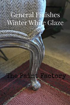 Favorite Glaze: This is a hard one because I love two glazes. Both by General Finishes: One is Van Dyke glaze. It gives the effect similar to dark wax, but it's easier to put on – and it gives a beautiful sheen to the paint. The other contender is Winter White Glaze. Painted over graphite, it can give the illusion of metal.
