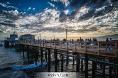 Epic clouds at the Santa Monica Pier make for out of this world photographic moments.