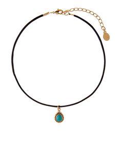 Sienna Green Stone Choker Necklace
