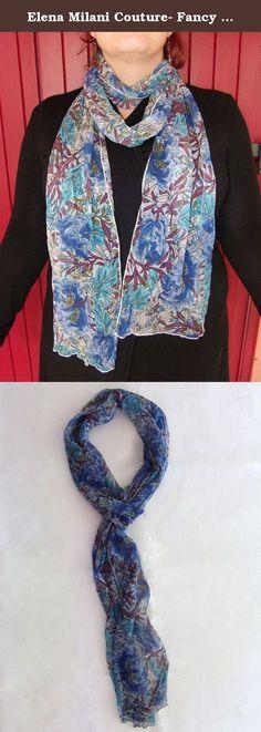 Elena Milani Couture- Fancy georgette scarf. Fancy scarf 100% silk, handmade in Italy.