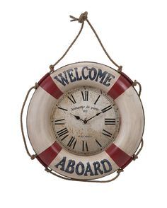 Buy the IMAX Home undefined undefined Direct. Shop for the IMAX Home undefined undefined x Welcome Aboard Wall Clock and save. Coastal Style, Coastal Decor, Clock Decor, Wall Decor, Wall Clocks, Home Decor Accessories, Decorative Accessories, Welcome Aboard, Tabletop Clocks