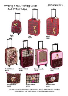 More Childrens trolley cases and wash bags