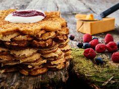 Verdens beste vafler - video med steg for steg Pancakes And Waffles, Crepes, Apple Pie, Panna Cotta, Nom Nom, Recipies, Deserts, Brunch, Food And Drink