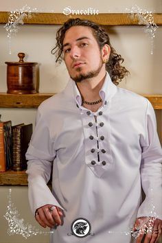 Gregoire medieval shirt clothing for men LARP costume by Dracolite Medieval Costume, Steampunk Costume, St Hubert, Alternative Men, Shirt Outfit, Shirt Dress, Medieval Clothing, Larp, Chef Jackets