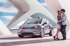 Rinspeed autonomous driving BMW i3 EV.