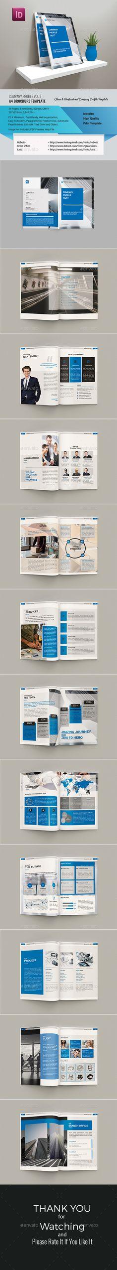 Company Profile Vol 3 - #Corporate #Brochures Download here: https://graphicriver.net/item/company-profile-vol-3/19214182?ref=alena994