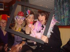 Birthday Idea - Photo Frame photo booth w/ props. I am SO doing this