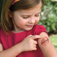 Great idea when hanging in large crowds like theme parks and festivals  These temporary tattoos help keep kids safe when parents aren't around. They're easy to spot, easy to apply, and include a space for writing your phone number (safe, non-toxic marker included).