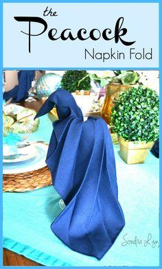 Peacock Napkin Fold Tutorial-- Sondra Lyn at Home