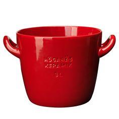 Höganäs Pot With Handles, Red, Höganäs