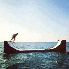 So sick! sea miniramp #seaworthy #summer #skate
