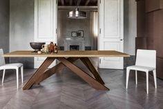 Acier corten tableau Idées intérieur Bonaldo Bois table rectangulaire