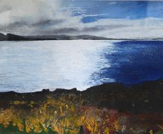ardnamurchan on the horizon_helen fryer_mixed media_37 x 43 cm