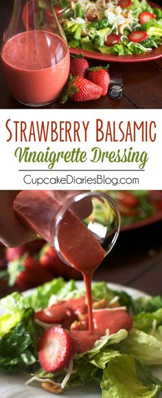 Strawberry Balsamic Vinaigrette Dressing