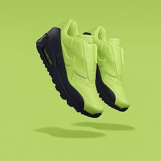 Nike Labz AirMax 90. Green Block colour trainers contrast