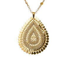 """Blue Hand Home - Anna Beck Design """"Lombok"""" Large Chain Drop Necklace - Gold, $285.00 (http://www.bluehandhome.com/anna-beck-design-lombok-large-chain-drop-necklace-gold/)"""