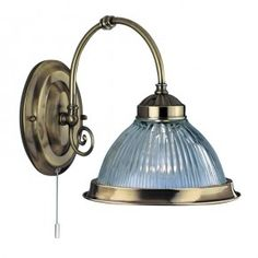 American Diner Wall Light - Antique Brass