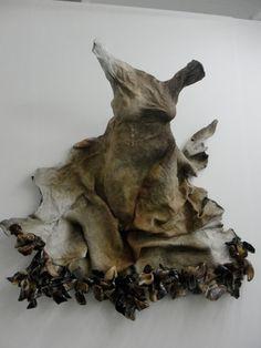 Nandipha Mntambo (cowhide, resin)