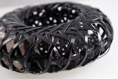 """TINA CHOW-USA designed bracelet - woven basketry with, inside, """"free"""" rough stones ....1985 """"(April 18, 1950 – January 24, 1992)[1] was a model, jewelry designer, and influential fashion icon in the 1980s"""""""