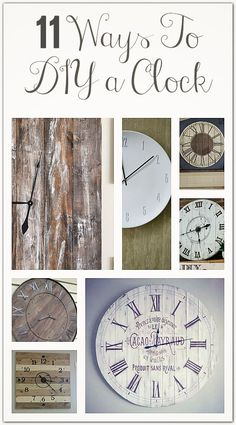Ways to DIY a wall clock