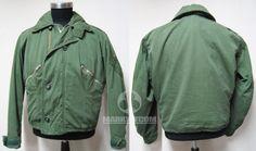 Royal Air force RAF UK MARK 3 COLD WEATHER GREEN poplin Flight jacket 1972