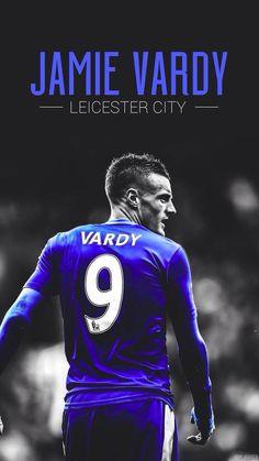 Jamie Vardy - Leicester FC 2015/2016 Leicester City Fc, Jamie Vardy, Sports Art, Football Players, Premier League, Man, Soccer, Flyers, Backgrounds