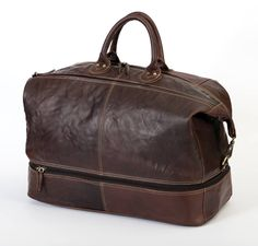 Alpenleder Leren Duffel Bag - Weekender Arizona Brandy