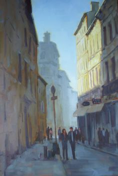 A Quiet Street / Rodgers Naylor / 2014 oil on canvas / Art Size: 24 x 36; Frame Size: 29.5 x 41.5