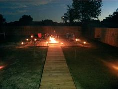 Putting the new Pallet Deck and Fire Pit to good use.  Perfect night for a fire!
