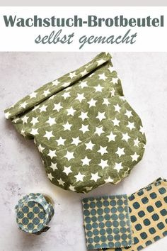 Oilcloths and oilcloth bread bags. Made easy. – Zero Waste & Nachhaltige Geschenke - DIY and crafts Bread Bags, Food Crafts, Diy Food, Jar Crafts, Diy Crafts For Kids, Kids Diy, Zero Waste, Bag Making, Fabric Crafts
