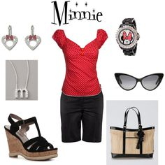 Day at the theme park, created by chris2267 - this top just screams Minnie.