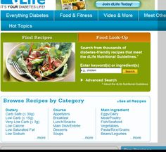 A website with a plethoria of diabetic recipes.