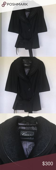 Guess wool cape jacket Guess wool cape jacket brand wore once like brand new size small.Offers Accepted. NO TRADES NO LOWBALLING Guess Jackets & Coats