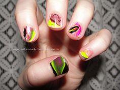 swirly #colors #nailart