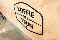 """""""Koffie bij Teun""""  For a brand new coffee bar located in """"De Barones"""" in the city centre of Breda, Nine Yards skatepark co. was asked to design and build a brand new coffee bar.   The result is a custom build coffee bar designed for a efficient work flow with unique materials and details. The complete interior was build from oak, steel and concrete."""