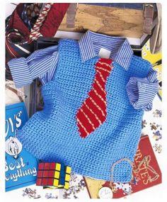 Ravelry: Little Man Vest pattern by Candi Jensen Crochet Today! May/June 2009 Crochet Today! Mens Crochet Beanie, Gilet Crochet, Knit Crochet, Baby Patterns, Crochet Patterns, Baby Boy Vest, Diy Vetement, Baby Pullover, Crochet Baby Clothes